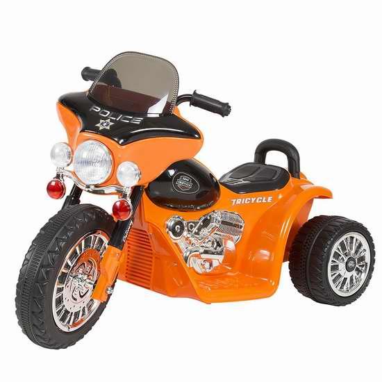 Rockin' Rollers 小警察 儿童迷你三轮电动摩托车5.5折 93.05加元包邮!