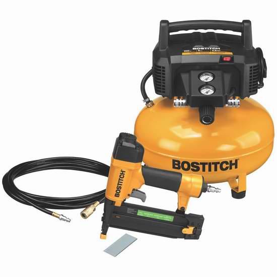 BOSTITCH BTFP1KIT-CA 空气压缩机+钉枪套装 219.99加元包邮!