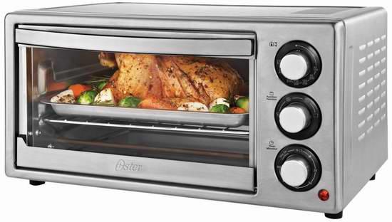 历史最低价!Oster 6-Slice 不锈钢电烤箱5折 32.99加元包邮!