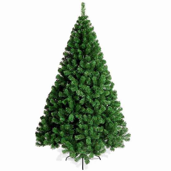 白菜价!历史新低!Naisidier 6英尺 仿真圣诞树2.3折 18.99加元清仓!
