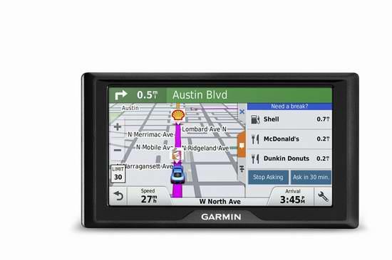 历史最低价!Garmin 佳明 Drive 60 6英寸车载GPS导航仪4.8折 149.99加元包邮!