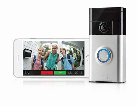 历史新低!Ring Wi-Fi 可视智能门铃4折 99.99加元包邮!送Echo Dot第三代智能音箱!2色可选!会员专享!