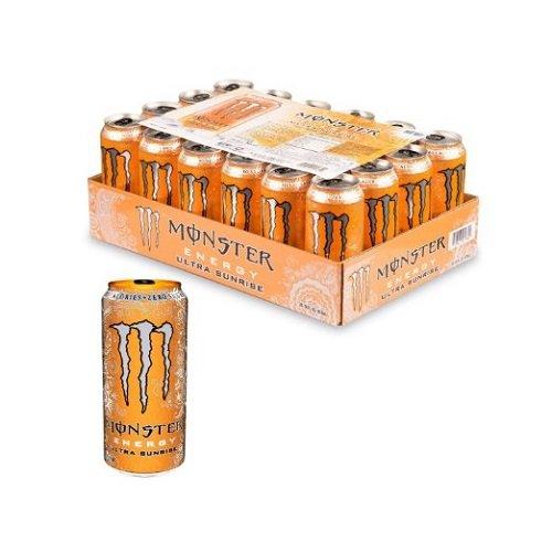历史新低!Monster Energy Ultra Sunrise 零卡路里 魔爪能量饮料(24罐) 36.94加元包邮!