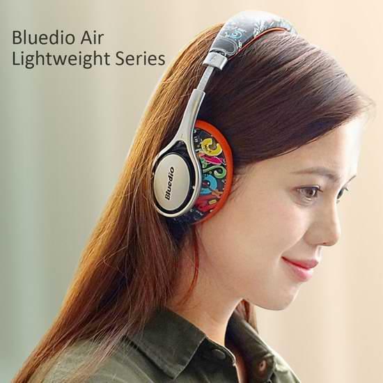 Bluedio 蓝弦 A (Air) 时尚头戴式蓝牙耳机 32.99加元限量特卖并包邮!