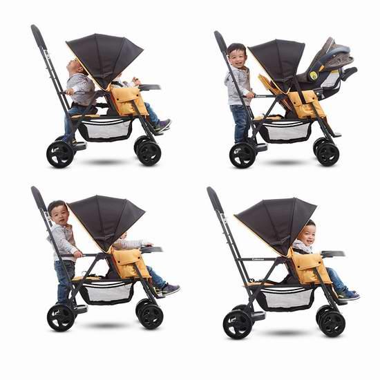 历史新低!Joovy 8141 Caboose Graphite 双人婴儿推车5.6折 159.97加元包邮!2色可选!