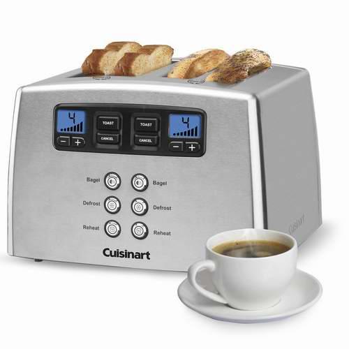 金盒头条:Cuisinart CPT-440C 不锈钢4片烤面包机 92.99加元,原价 109.99加元,包邮