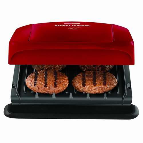 金盒头条:历史新低!George Foreman GRP1060RC 红色电烤炉4.4折 23.99加元!