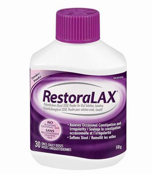 有效缓解便秘!RestoraLAX 通便排毒冲剂(30剂量) 18.97加元!