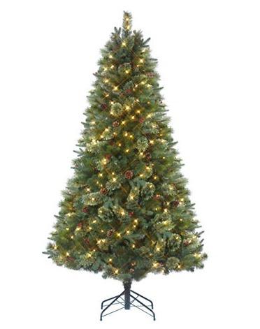 精选4款 Gluckstein Home 6-7英尺预装彩灯圣诞树全部3折清仓!额外8.5折!