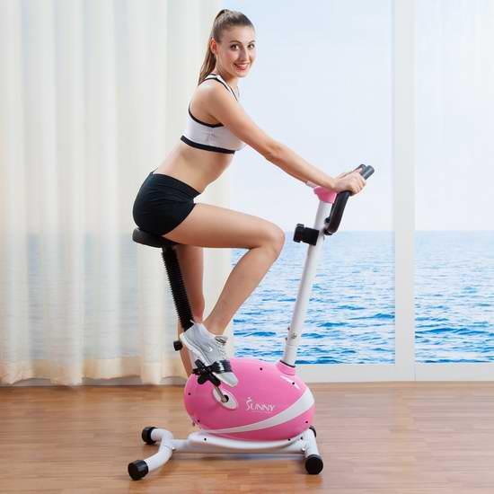 历史新低!Sunny Health and Fitness P8200 立式磁阻健身自行车6折 128.66加元包邮!