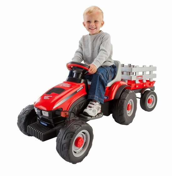 历史新低!Peg Perego IGED1112 儿童电动拖拉机 174.87加元包邮!