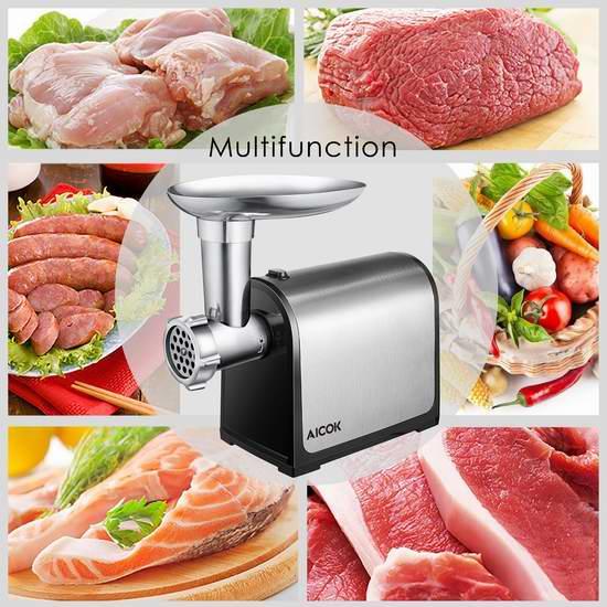 Aicok 不锈钢电动绞肉/灌肠机 67.99加元限量特卖并包邮!