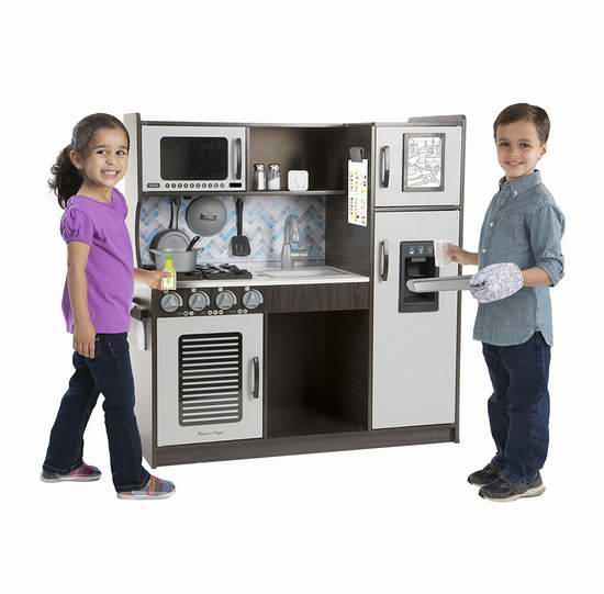 Melissa & Doug Chef's Kitchen 仿真儿童厨房8折 191.99加元包邮!