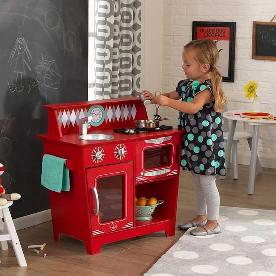 KidKraft Classic 红色儿童小厨房套装6.8折 84.97加元包邮!