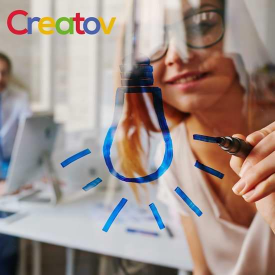 历史最低价!Creatov 可擦玻璃 彩色荧光马克笔(12色)2.2折 10.99加元!