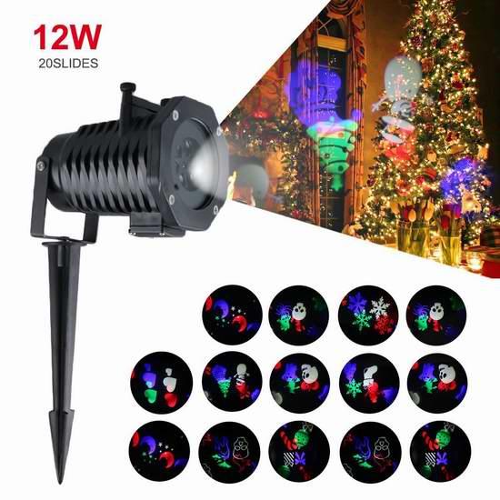 速抢!历史新低!Lampwin 20合一 室内/室外 LED动态投影装饰灯2.4折 13.41加元包邮!