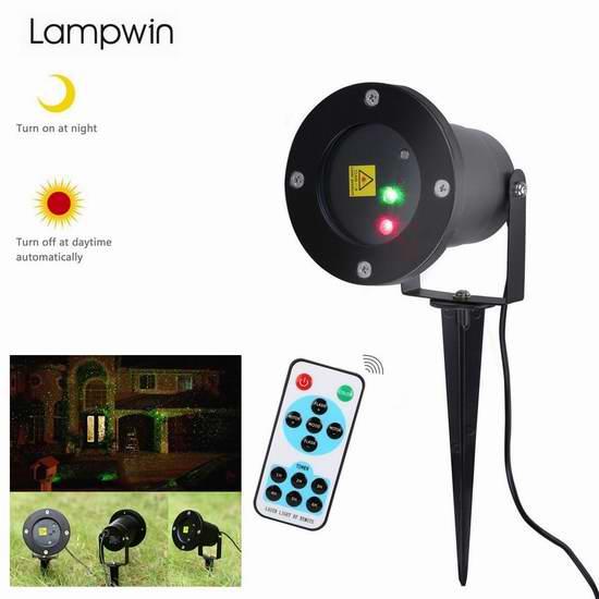 白菜价!Lampwin 可遥控 圣诞满天星流星雨装饰灯1.7折 15加元包邮!