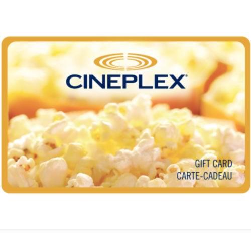 Cineplex影院电子礼品卡立省8加元,仅售42加元!