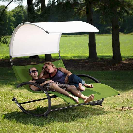 白菜价!历史新低! Vivere 双人庭院摇椅2.6折 117.91加元清仓并包邮!