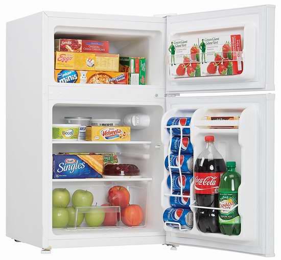 历史最低价!Danby DCR032C3WDB 双开门紧凑型节能冰箱 150加元包邮!