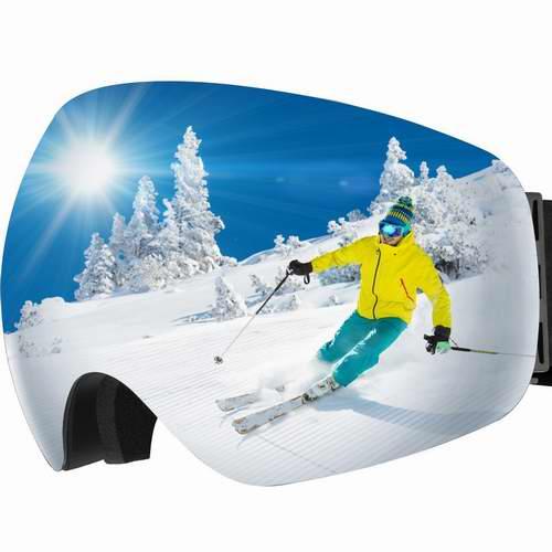 金盒头条:OMorc 专业防起雾防紫外线滑雪镜 28.85加元!2款可选!仅限今日!