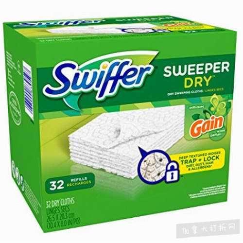 Swiffer Sweeper 拖把一次性湿抹布  13.25加元(128张),原价 41.96加元