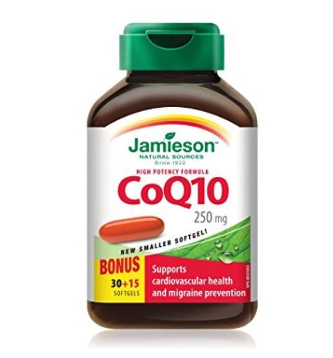 Jamieson 健美生 心脏保健 高浓度辅酶Q10软胶囊(250mg x 45粒) 17.63加元包邮!