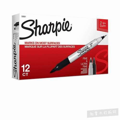 金盒头条:Sharpie TWIN TIP 12支双头马克笔 12.99加元,原价 19.87加元
