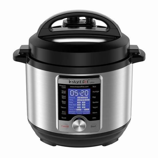 近史低价!Instant Pot Ultra 3夸脱 10合一 超智能可编程 电压力锅6.2折 86.85加元包邮!
