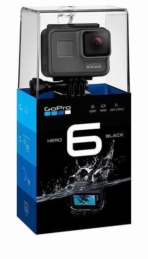 历史新低!翻新 最新版 GoPro HERO6 4K超高清 语音控制 运动摄像机6.2折 249加元包邮!