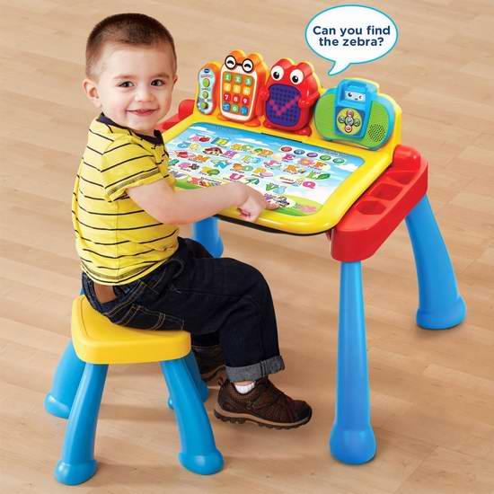 历史最低价!VTech 伟易达 Touch and Learn 幼儿启蒙 豪华多功能互动学习桌 34.94加元!英法语2款可选!