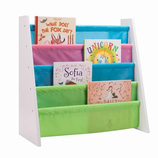 历史新低!Honey-Can-Do SHF-05078 彩色布艺儿童书架5.8折 38加元包邮!