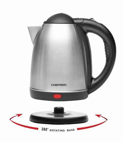 Chefman RJ11-17 1.7升 不锈钢电热水壶 25.49加元限量特卖!
