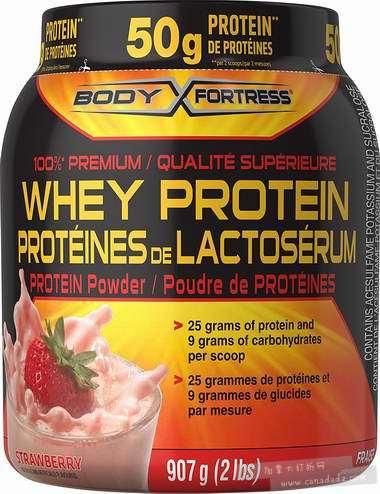 金盒头条:精选 Body Fortress 饼干奶油/草莓味乳清蛋白粉2磅装7.1折 17.09-17.99加元!