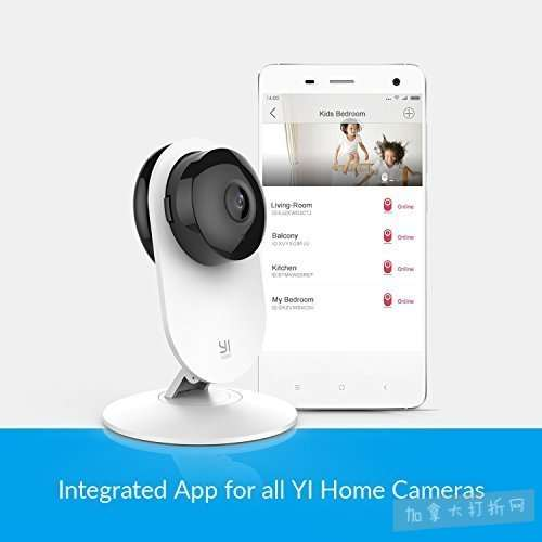 Xiaomi 小米 Yi 小蚁 1080p 双向语音 红外夜视 智能监控摄像机 22.49加元!