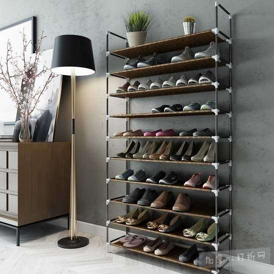 手慢无!Sable 10层 1.75米 超大容量 组合鞋架 23.99加元限量特卖并包邮!