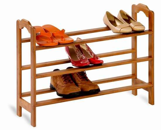 历史新低!Honey-Can-Do SHO-01601 三层竹制鞋架2.4折 16.27加元!