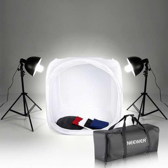 历史新低!Neewer 80x80cm 迷你摄影棚+照明系统3.1折 49.99加元包邮!