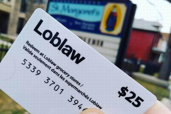 今晚截止!赶快申请 Loblaw 超市免费派发25加元礼品卡!每个人都有份!小编已收到卡!