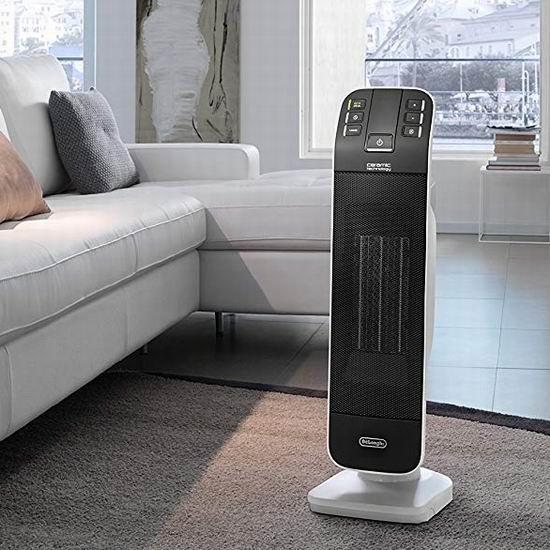 白菜速抢!历史新低!Delonghi 德龙 HFX65V15CA 二合一 塔式陶瓷电取暖器3折 39加元清仓并包邮!冬天取暖、夏天送凉风!