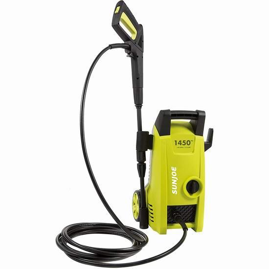 Sun Joe SPX1000 1450 PSI 1.45 GPM 家用电动高压清洗机6.2折 108.97加元包邮!