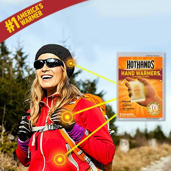 近史低价!寒冬保暖必备 HotHands 暖手神器/暖手宝20件套超值装4.8折 14.6加元!