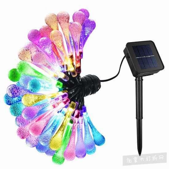 历史新低!VicTsing 50 LED 户外太阳能 水晶装饰灯 9.99加元清仓!