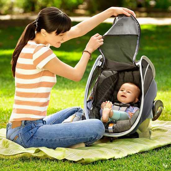 Munchkin BRICA 遮光透气防蚊 婴儿提篮保护罩 26.4加元,原价 33加元