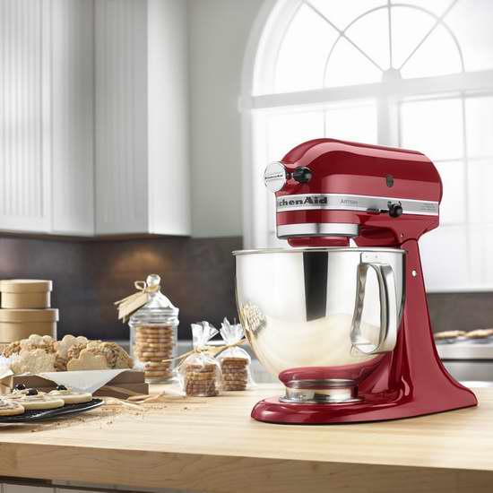 销量冠军!KitchenAid 厨宝 KSM150 Artisan 名厨系列5夸脱多功能厨师机6折 329.99加元包邮!5色可选!