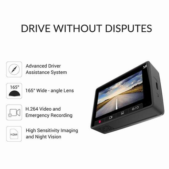 手慢无!Xiaomi 小米 Yi 小蚁 智能超广角行车记录仪 49.99加元限量特卖并包邮!