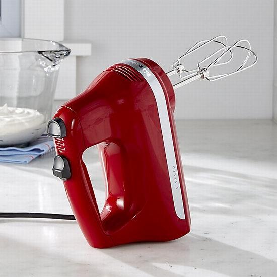 KitchenAid KHM512ER 5速手持式强力搅拌器 49.98加元包邮!4色可选!