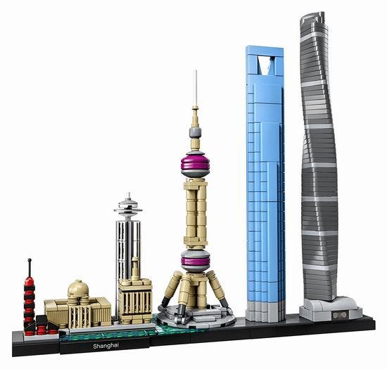 LEGO 乐高 21039 建筑系列 上海天际线(597pcs)7.5折 59.99加元包邮!