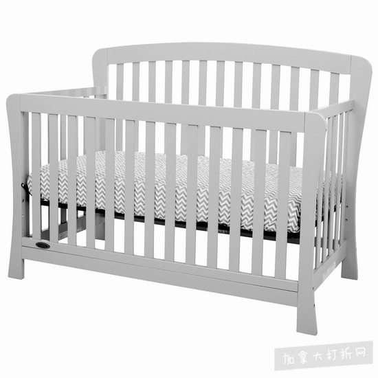 Kidiway Claire 4合1 实木成长型婴儿床 149.99加元(3色),原价 499.99加元,包邮