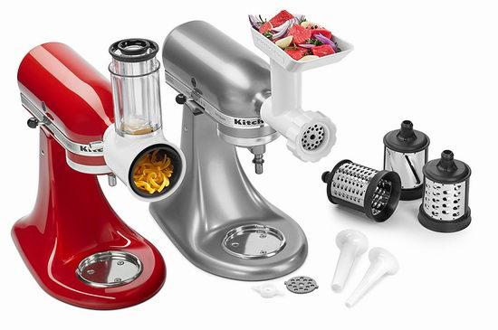 近史低价!KitchenAid KSMGSSA 搅拌器附件套装 159.72加元,原价 229.99加元,包邮